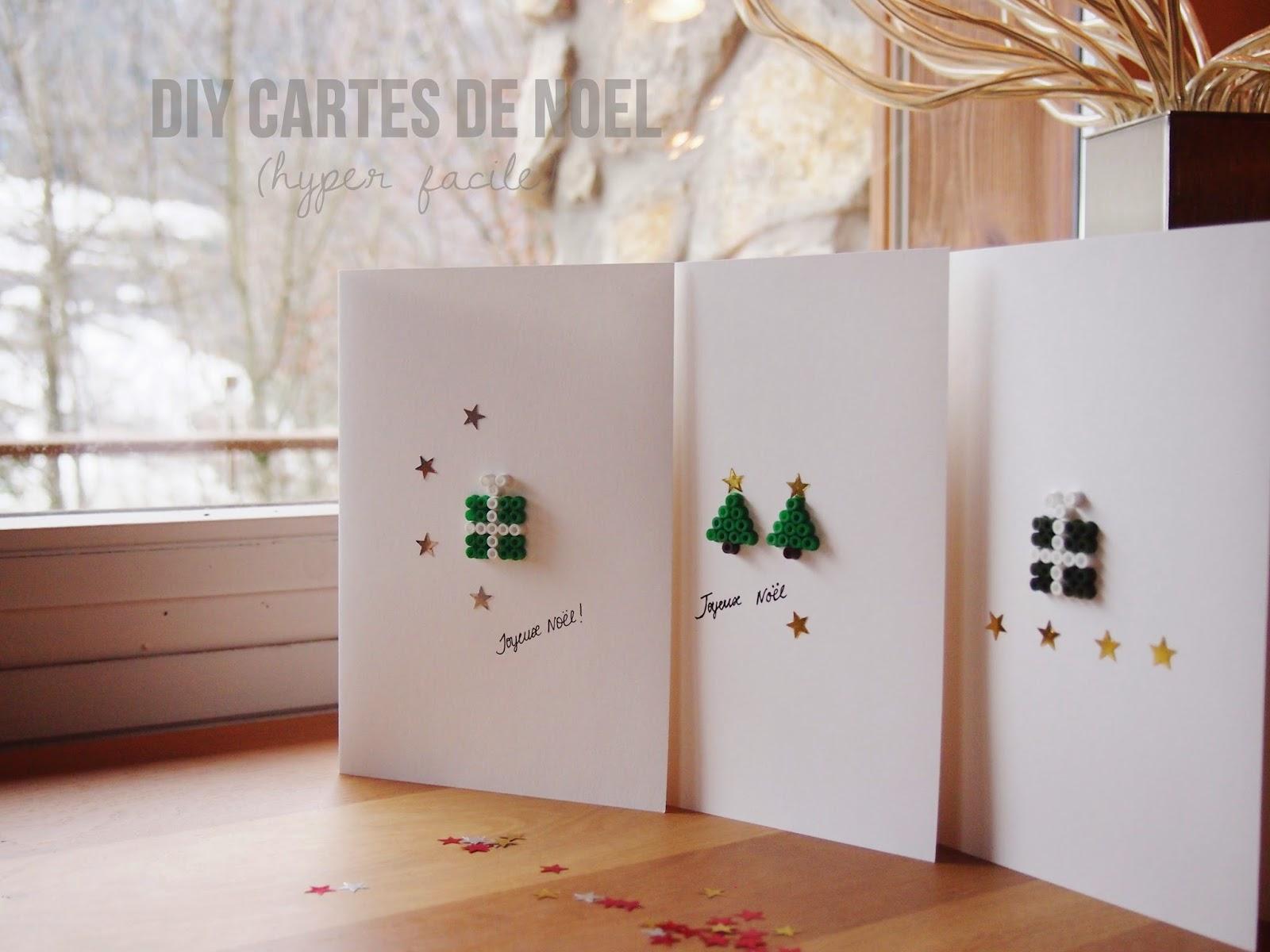 cartes cadeaux noel perles hama diy