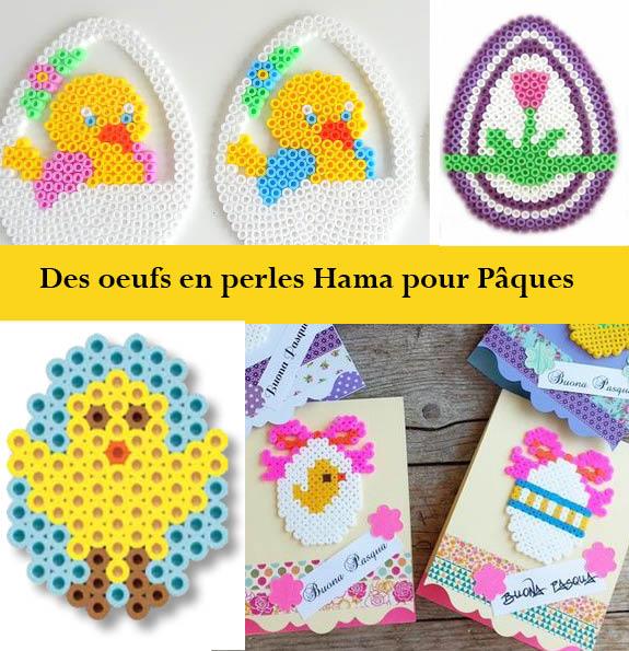 Des oeufs en pagailles et en perles Hama pour Pâques