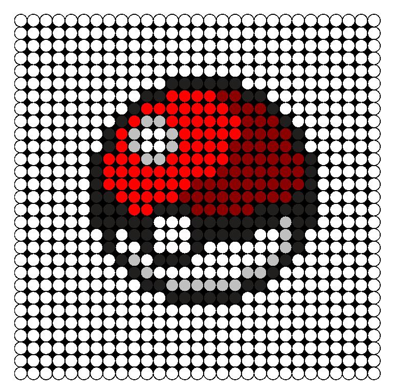 pokeball_reflet perles hama 3 dimensions
