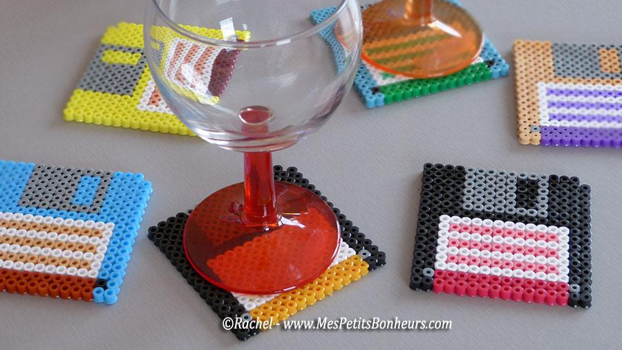 faire soi m me ses propres sous verres en perles hama mod les hama. Black Bedroom Furniture Sets. Home Design Ideas