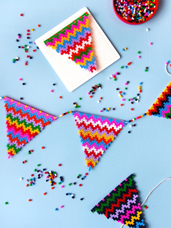 DIY- fanions en perles hama beads