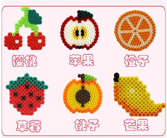 dinette fruits diy perles hama