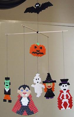 mobile bebe halloween perles hama