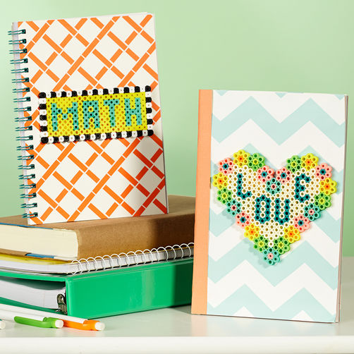 Notebook-Style bloc notes hama perles diy