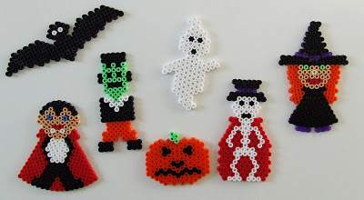 perles hama halloween mobile vampire fantome citrouille