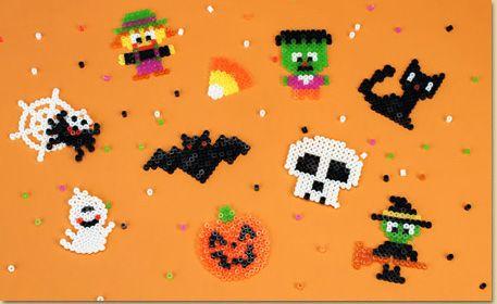 halloween motifs en perle hama sorciere fantome