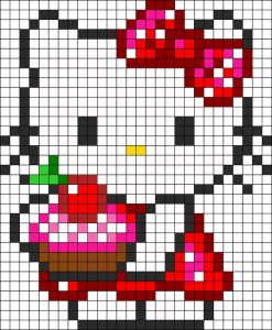 hello-kitty-perles-hama-cupacke-diy