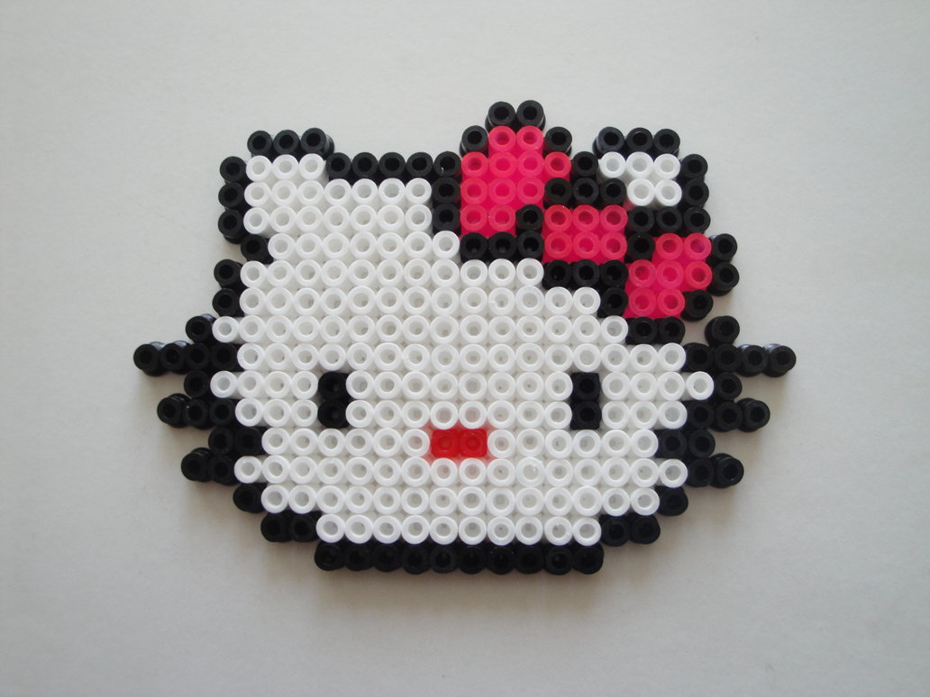 Hello Kitty 1001 Possibilités En Perles Hama Modèles Hama