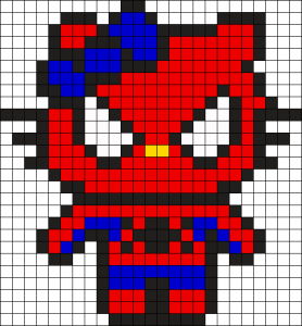 perles-hama_Hello_Kitty_Spider_Man