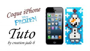 coque-iphone-olaf-perles-repasser-hama-frozen