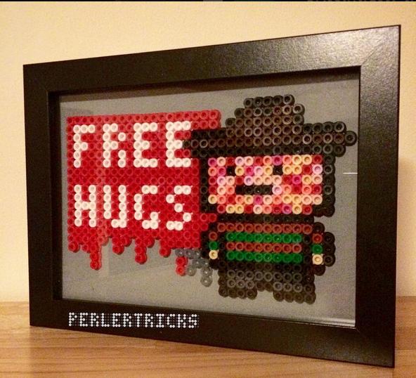 free-hugs-freddy-kruger-halloween-hama-perles-repasser