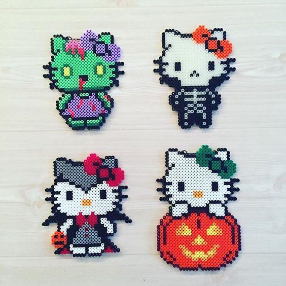 hello-kitty-halloween-perles-hama-grille