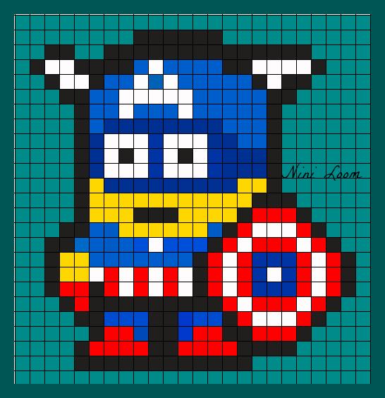 minion-captain-america-hama-perles-repasser