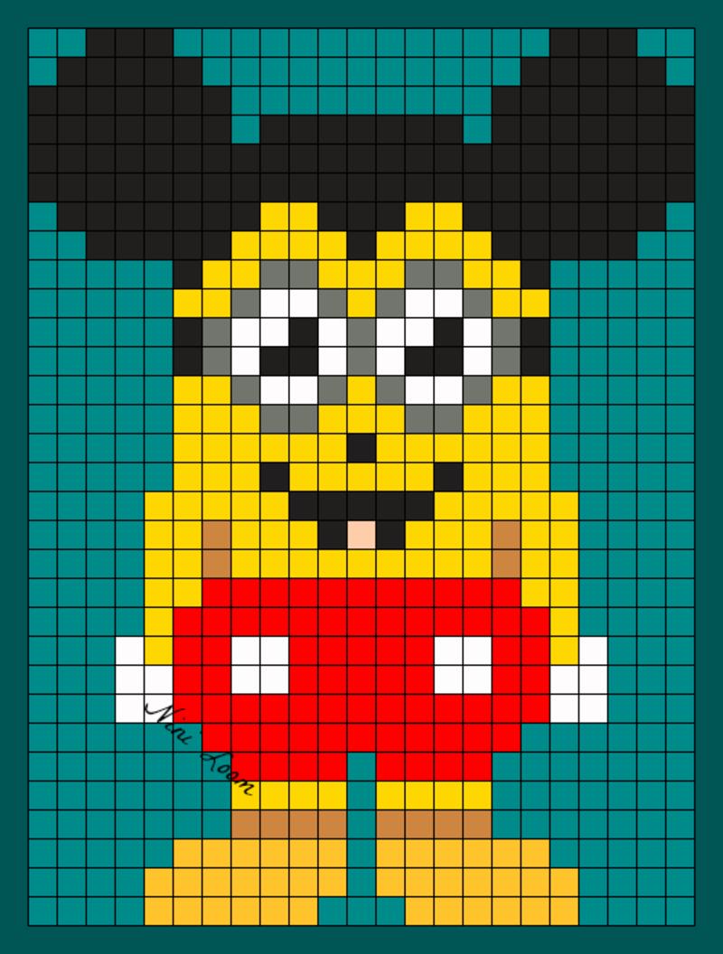 Pixel Art Minion Pompier