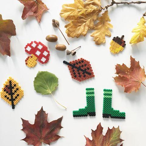 Vive l'automne avec les perles Hama