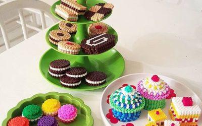 Miam miam des cupcakes en perles à repasser !