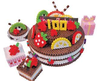 gateau-chocolat-3d-perles-hama-a-repasser