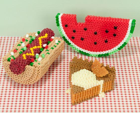 hotdog-pasteque-cheesecake-perles-hama-a-repasser