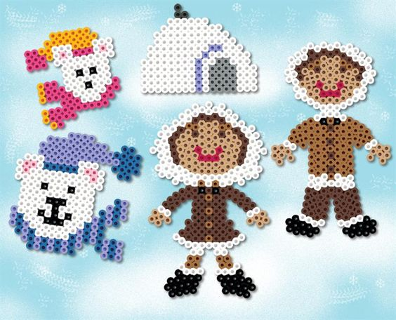 pole-nord-ours-hiver-igloo-perles-a-repasser-hama