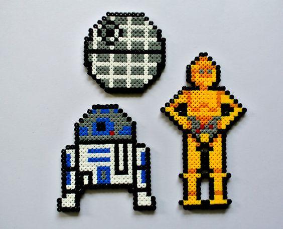 Star Wars Lempire Contre Attaque En Perles à Repasser