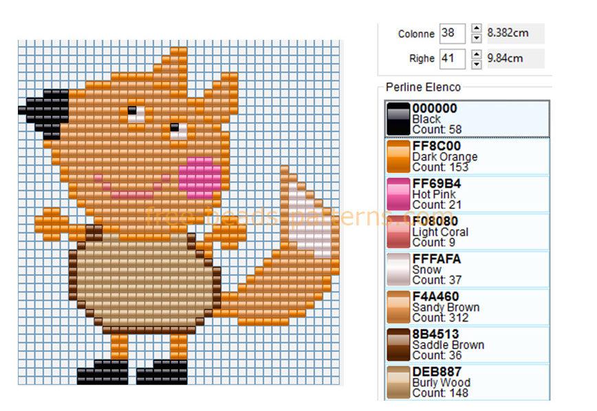 freddy-fox-peppa-pig-hama-perles-a-repasser-pattern