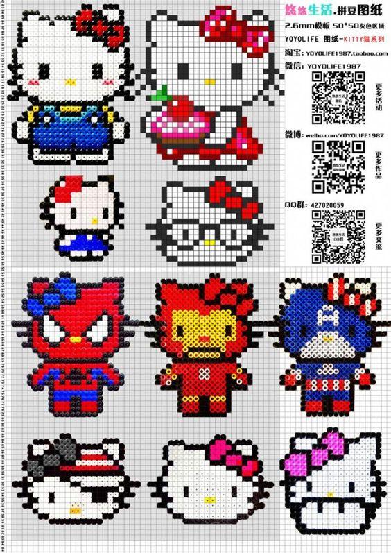grilles-gratuites-models-perles-a-repasser-hama-hello-kitty