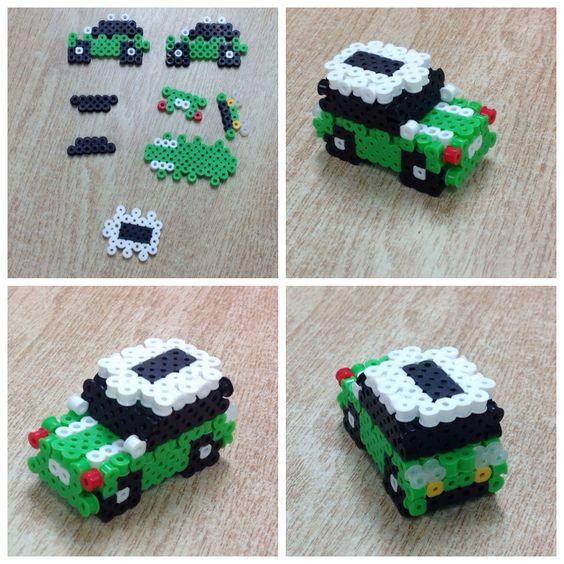 voiture-3d-perles-a-repasser-hama
