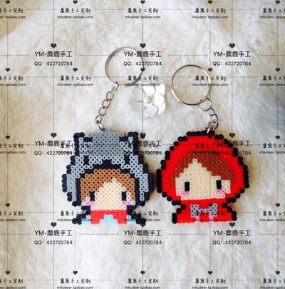 porte-clefs-chaperon-rouge-perles-a-repasser-hama