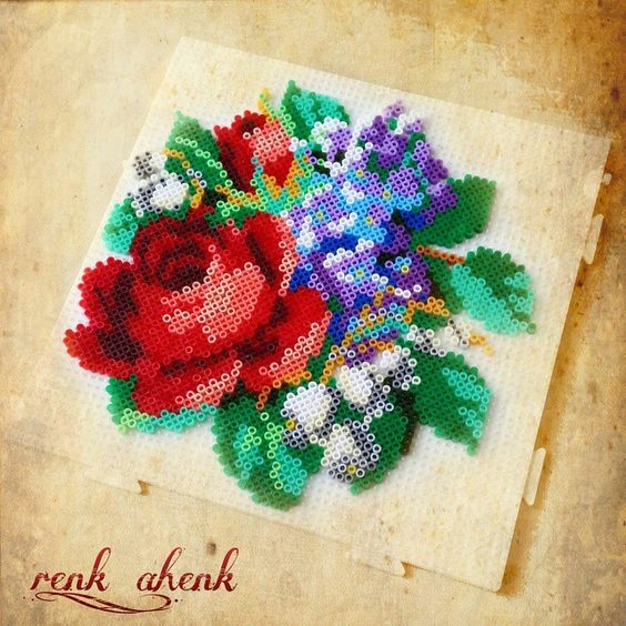 rose-perles-a-repasser-hama-fleurs