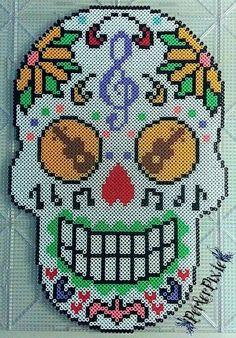 mexican-skull-perler-beads-hama-music