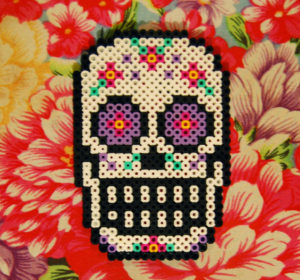 sugar_skull_perler_coaster_by_cephalo786-d5mk85v