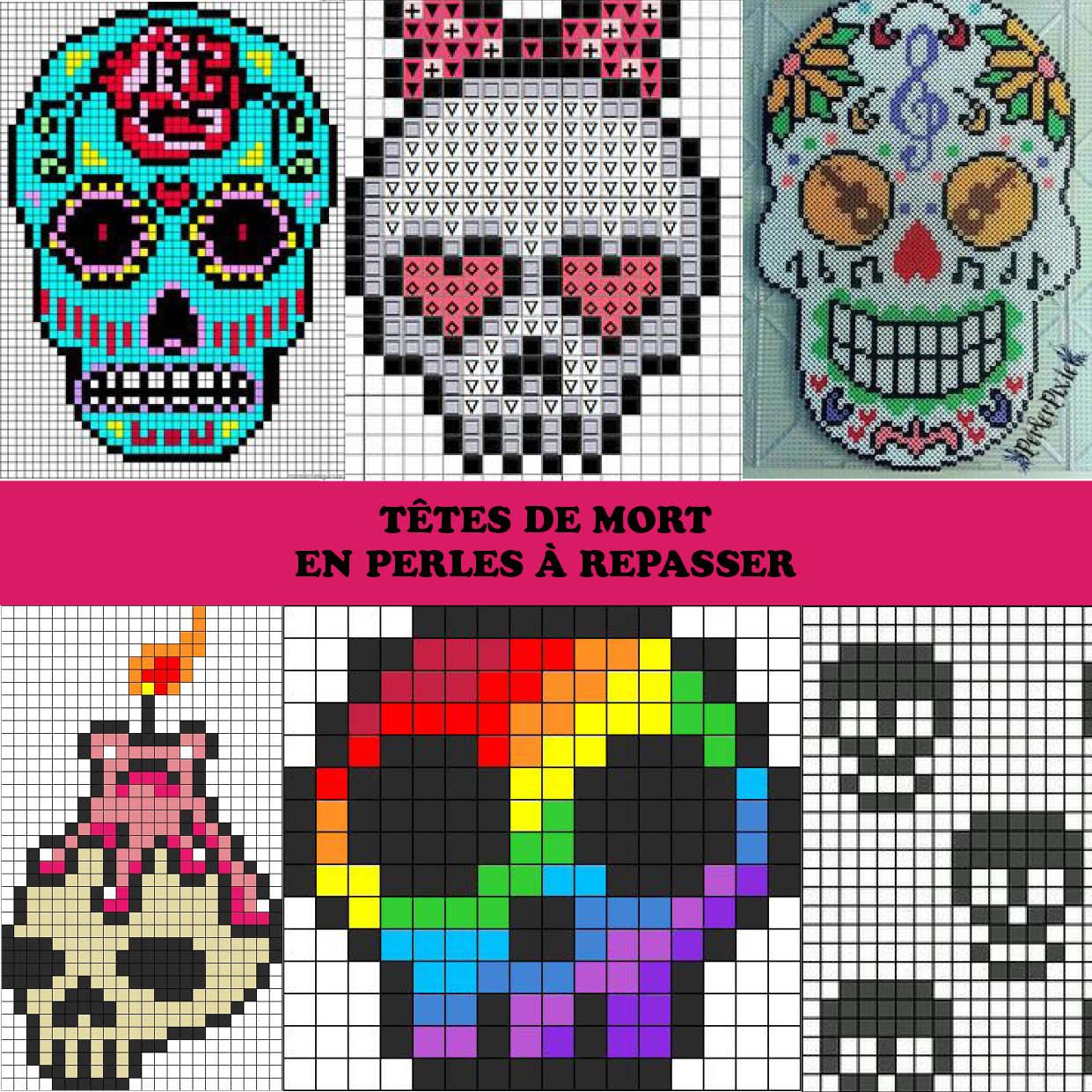 Pixel Art Tete De Mort