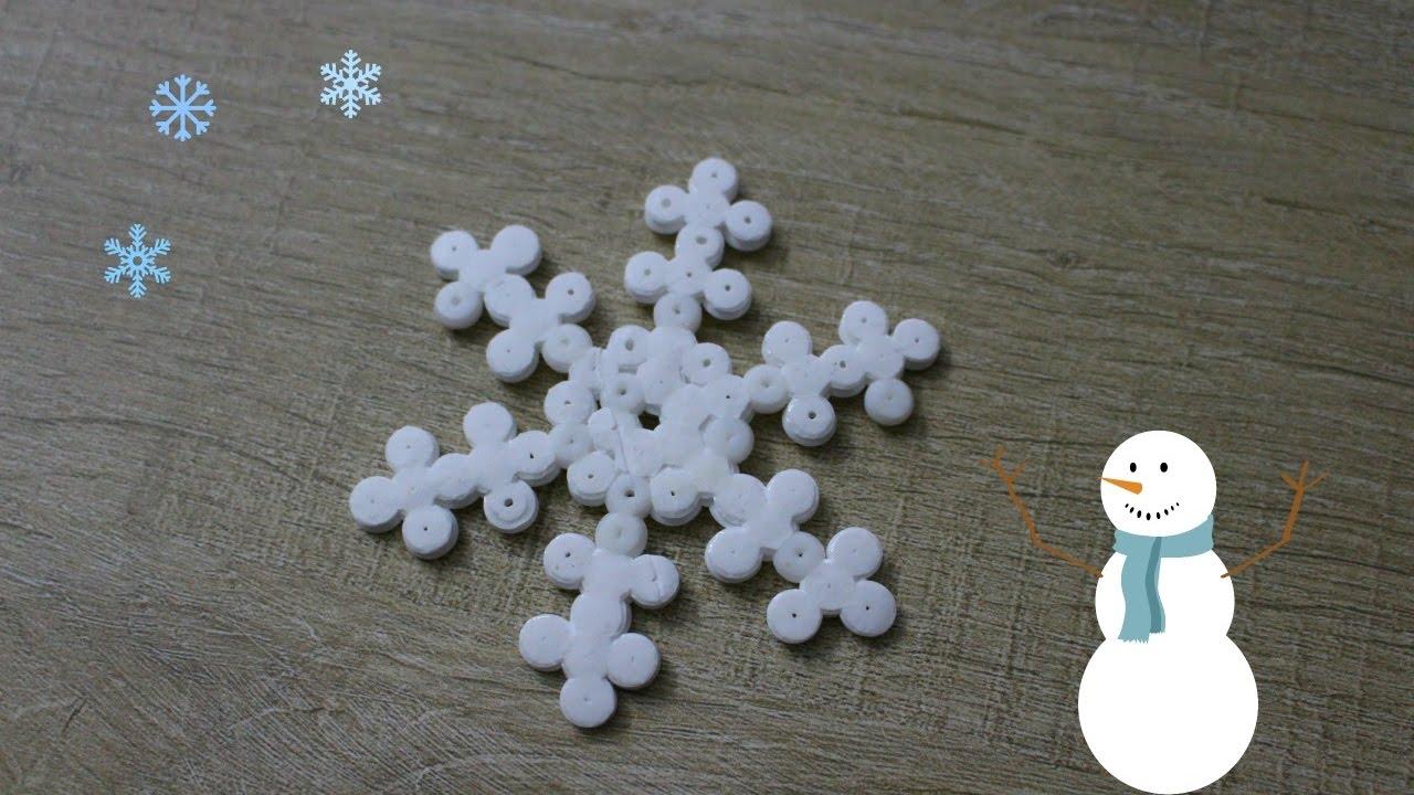 Tuto : Flocon en perles hama / Perler beads snowflake