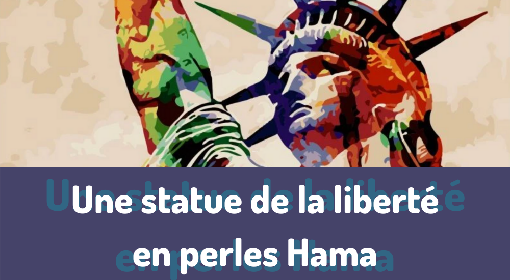 Une statue de la liberté en perles Hama